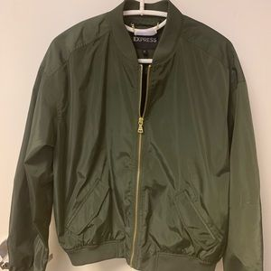Olive -Army green bomber jacket by Express.
